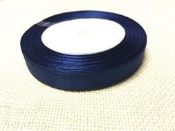 1 of 12mm shade of blue satin ribbon roll 25 yards-bb224