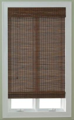 "2 NEW JCPENNEY WOVEN PECAN WOOD ROLL UP ROMAN SHADES  29""Wx7"