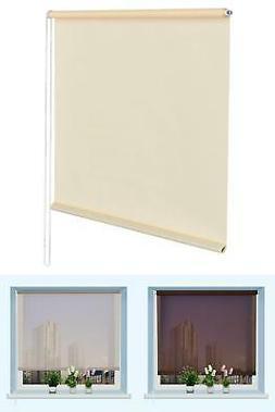 """43""""x60"""" Semi-shut Roller Blind Sunscreen Sun Shade Window Be"""