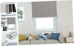 Allesin Roller Shade Blackout Cordless Window Blinds for Hom