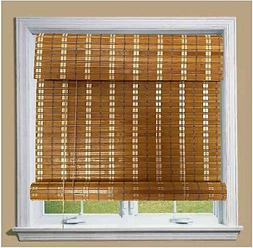 THY COLLECTIBLE Bamboo Roll Up Window Blind Sun Shade, Light