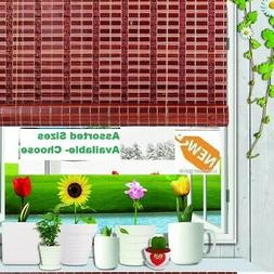 Bamboo Window Blind Shade Roll Up Natural Roman indoor Outdo