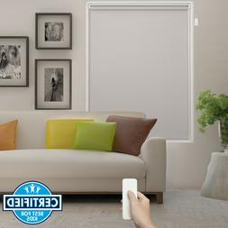 Beige Remote Control Battery Motorized Roller Shade Electric
