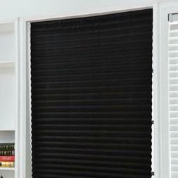 Self Adhesive Pleated Shades Blinds Curtains Windows Half Bl