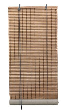 Brown Natural Bamboo Slat Matchstick Roll Up Blind Window Sh