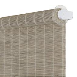 Cordless Bamboo Roller Shades 30x72 - Driftwood