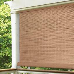 CORDLESS ROLL UP BLIND Sun Shade Outdoor Patio Deck Manuall