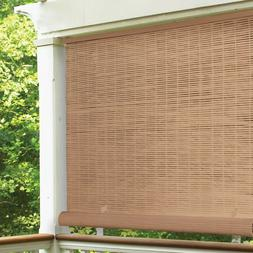 Cordless Roll Up Blind Sun Shade Outdoor Patio Deck UV Prote