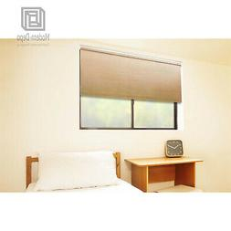 Cordless Roller Window Shades, Motorized-Remote, Natural Wov