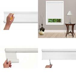 Cut-To-Size White Cordless Light Filtering Trimmable Width R