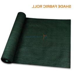 Dark Green Customize 6'FT Fabric Roll Shade Cloth Fence Wind