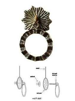Designer Series ROLLER SHADE RING PULL - Antique Brass Wavy