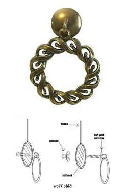 Designer Series ROLLER SHADE RING PULL - Antique Brass Woven