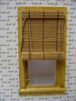 Dollhouse Miniature Bamboo Roll Up Shade in Natural - 1:12 S