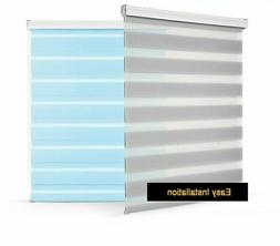 Double Layer Roller Shades Home Hotel Window Curtain Covers