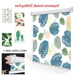 Expansive Drilling-free Roller Shades Pattern Printed Blinds