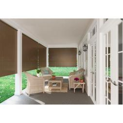 Window Sun Shade Blind Roll-Up Exterior Cordless Patio Outdo