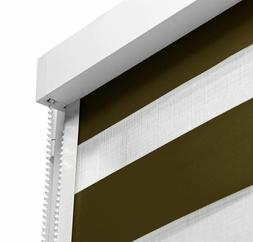 Fashion Square Roller Blinds / Shades in Cassette Zebra Styl