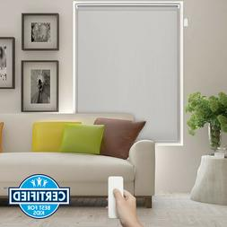 Home Automated Battery Operated Motorized Roller Blind - Sil