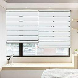 Horizontal Window Shade Blind Zebra Dual Roller Blinds Day A