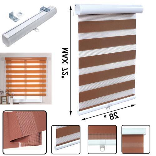 28 x 72 brown zebra roller blinds