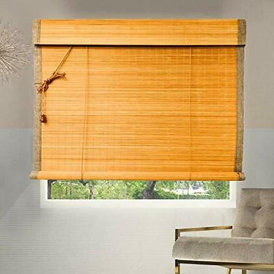 bamboo roller shades w36 x h72 inch