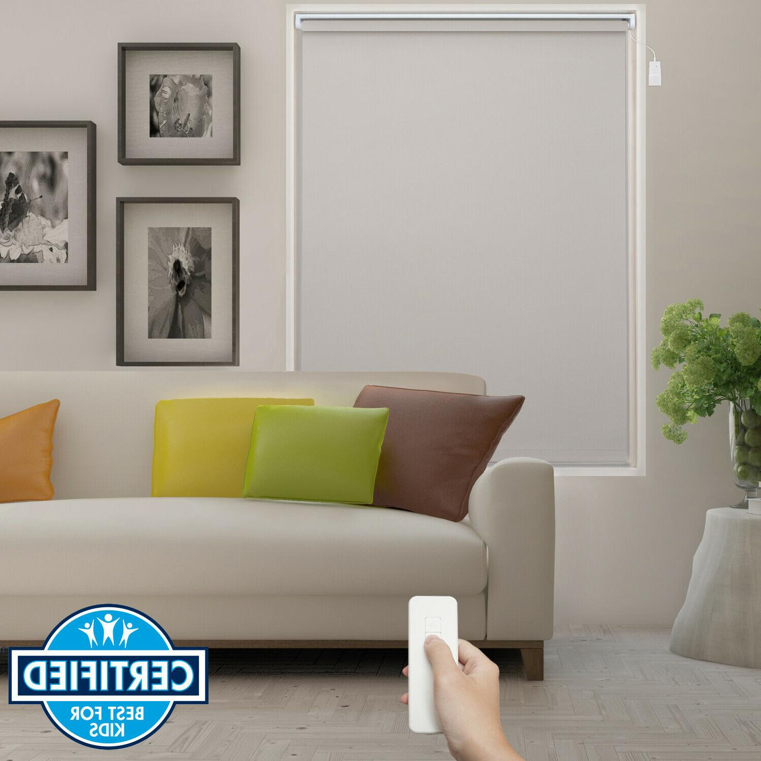 beige home automation motorized roller blind electric