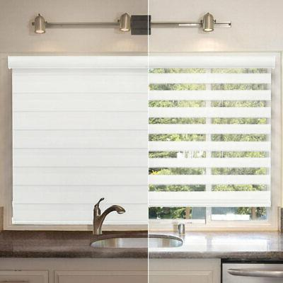 """Cordless Zebra Blinds Shades Privacy - 72""""W x 72""""H"""