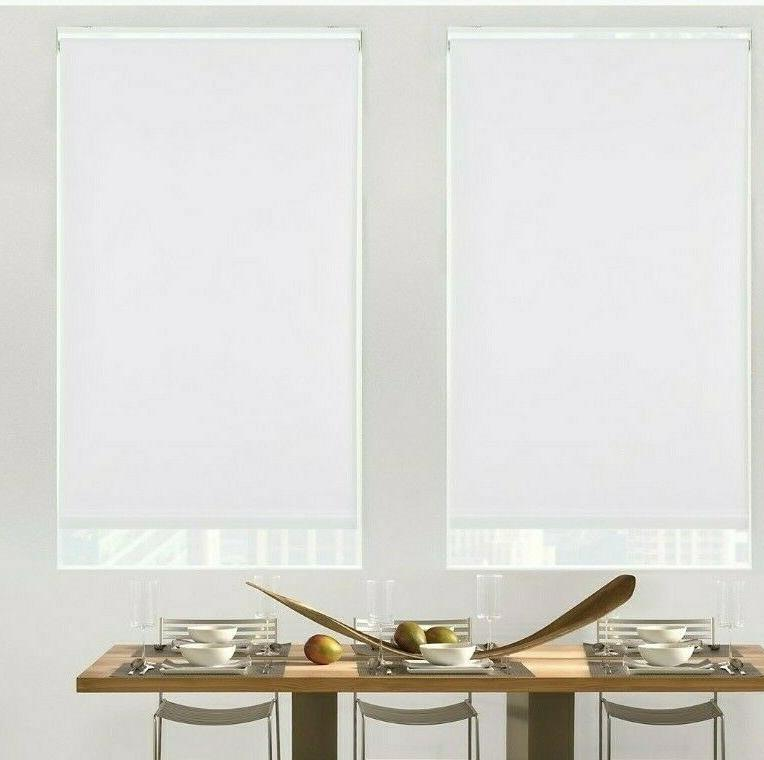 glowe cordless blackout roller shade in snow