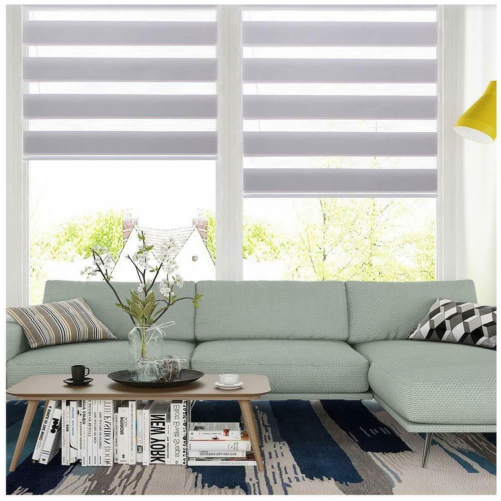 horizontal window shade blind zebra dual roller