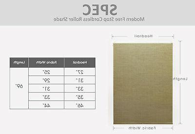 Cordless Natural FREE STOP Roller Blind-