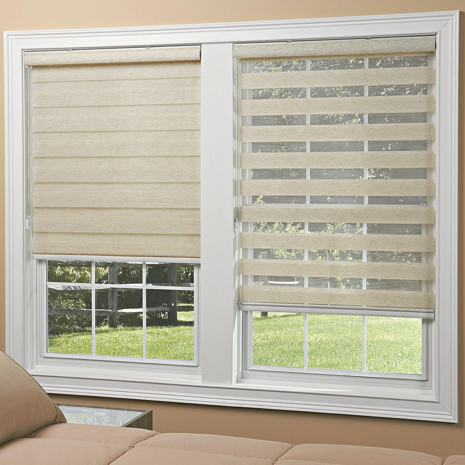 light filtering sheer roller shades 2 colors