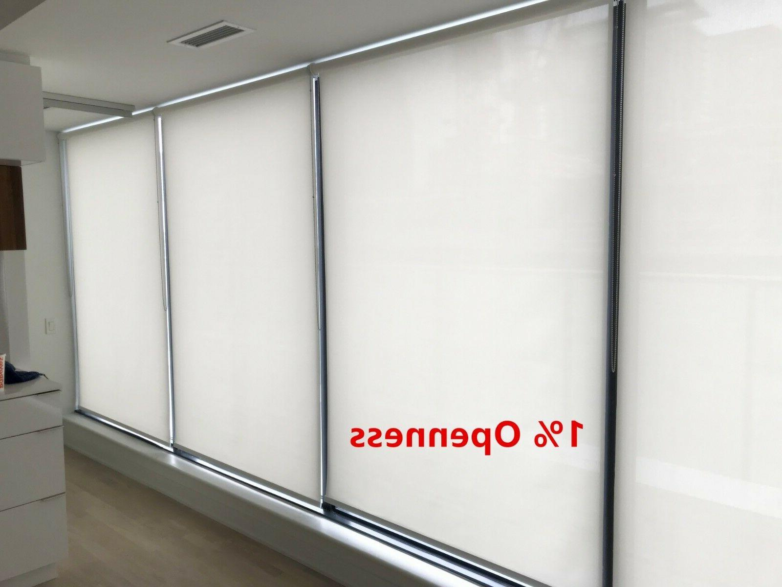 roller shade 1 percent opennes chalk color