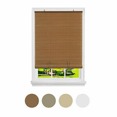 oval cordless rollup light filtering window blinds