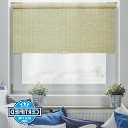 Cordless Natural Roller Shade FREE STOP Roller Window Blind-