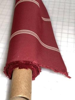 SUNBRELLA Marine /Shade Fabric Burgundy W/ Beige Stripes Gen