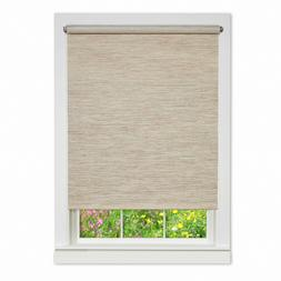Achim Natural Cordless Fabric Privacy Roller Shade  34 in. W