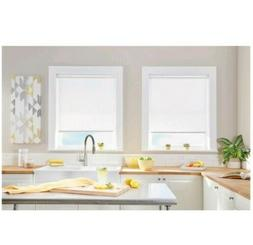 Natural Cordless Ivory Light Filtering Roller Shade 23 In. W
