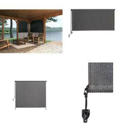 """OUTDOOR ROLL-UP SHADE Patio Porch Hanging Window Blinds 72""""W"""
