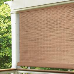 "Radiance 4' x 6' Cordless 1/4"" PVC Roll-Up Outdoor Sun Shade"
