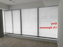 "Roller Shade 1% Openness ""Chalk"" Color  Blind Home Window Cu"