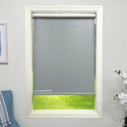 Roller Shade 4ply Vinyl Blackout Grey Blind  Home Window Cus