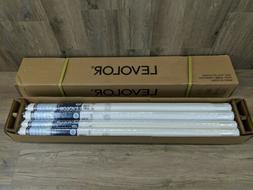 "Set of 12 Levolor 37 1/4"" x 78"" Super Blackout Vinyl Roller"