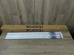 "Set of 4 Levolor 46 1/4"" x 66"" Room Darkening Vinyl Roller S"
