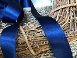 Berisfords Shade 13 Navy Blue Double Satin Ribbon 3/7/10/15/