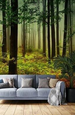 Shade Forest Seasons 3D Wall Decor Bedroom Designer Wallpape