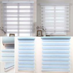 Simple Style Customized Double Layer Roller Zebra Blinds For
