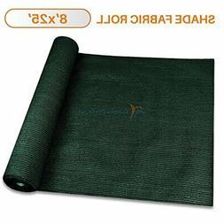 TANG Sunshades Depot 8'x25' Shade Cloth 180 GSM HDPE Dark Gr