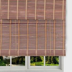 THY Bamboo Roll Up Window Blinds, Light Filtering Sun Shade