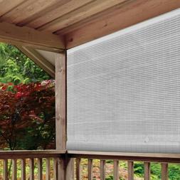 White Cordless Light Filtering UV Protection PVC Manual Roll